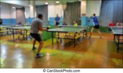 table tennis blurred sport slow motion video. beautiful the...