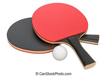 Table tennis equipment, 3D rendering