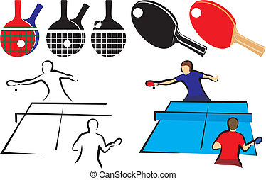 table tennis - equipment & icon