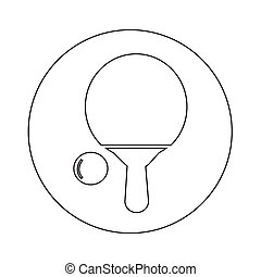 Table tennis icon illustration design