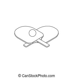 Table tennis icon, isometric 3d style