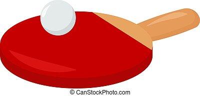 Table tennis, illustration, vector on white background.