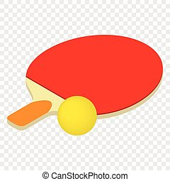 Table tennis isometric 3d icon
