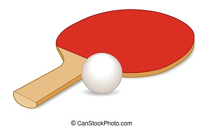 Table tennis paddle with ball