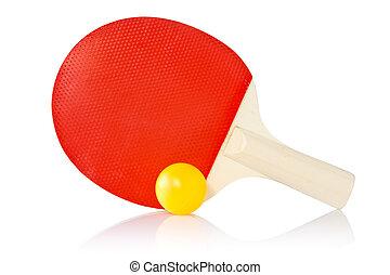 Table-tennis racket and ball
