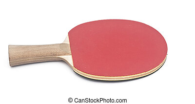 table tennis racket on white background