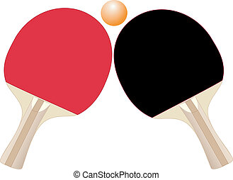 Table tennis rackets - Illustration of rackets and ball for...