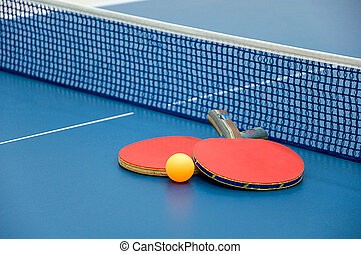 Table tennis - Ping pong paddles and ball