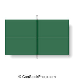Table tennis table vector illustration
