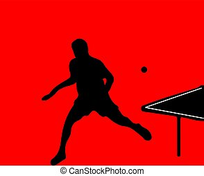 table tennis vector illustration isolated on background