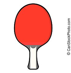 Table tennis - Vector illustration of the table tennis...