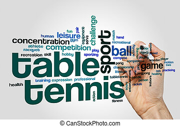 Table tennis word cloud concept - Table tennis word cloud on...