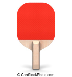 Table Tennis's Paddle Front View.3D render illustration. ...