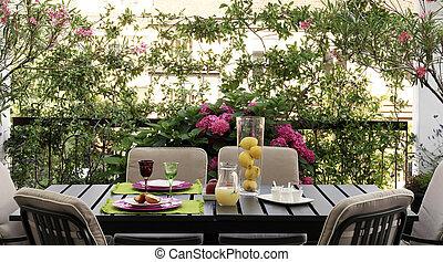 table, terrasse