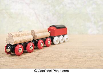 table, train, jouet, enfants