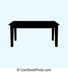 table vector illustration isolated on ligth blue background. Table icon.