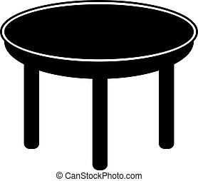 table. vector Simple modern icon design illustration.