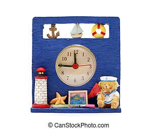 table, vie, marin, horloge, vendange