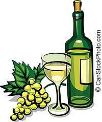 table, vin blanc