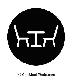 Table with chairs icon