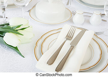 Table with table setting