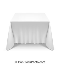 Table with white cloth