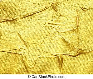 tableau acrylique, or, fond, textured