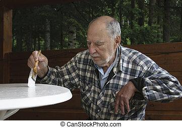tableau homme, vieilli, personne agee