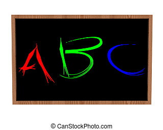 tableau noir, abc