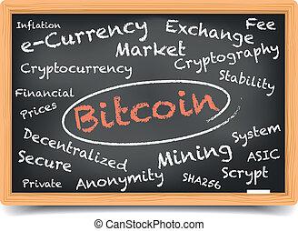 tableau noir, bitcoin