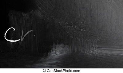 tableau noir, blackboard./