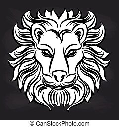 vecteurs eps de lion rugir noir blanc tatouage image lion noir csp19486096. Black Bedroom Furniture Sets. Home Design Ideas