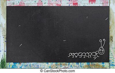 Espace, positif, gratuite, écriture, diagramme, tableau noir, vide.