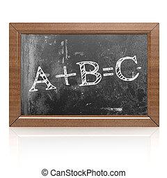 tableau noir, concept, education, abc