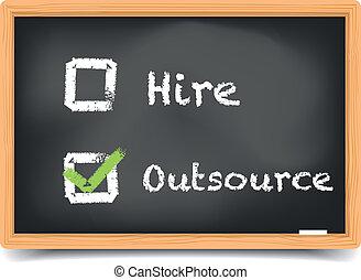 tableau noir, location, outsource