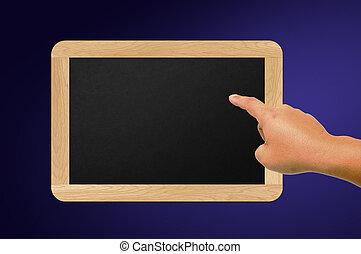 tableau noir, mains