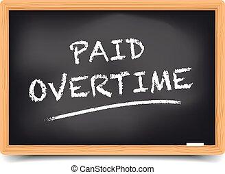 tableau noir, payé, heures supplémentaires
