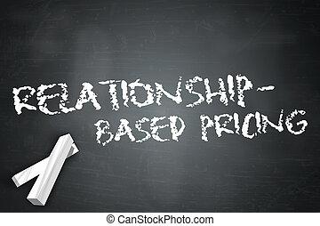 tableau noir, relationship-based, établissement des prix