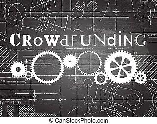 tableau noir, technologie, dessin, crowdfunding
