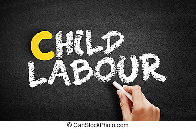 tableau noir, travail, enfant, texte