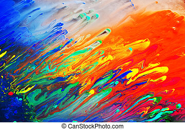 tableauabstrait, acrylique, coloré