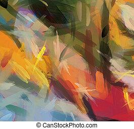 tableauabstrait, coloré