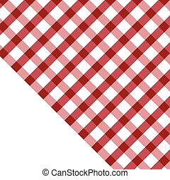 tablecloth illustration red and white