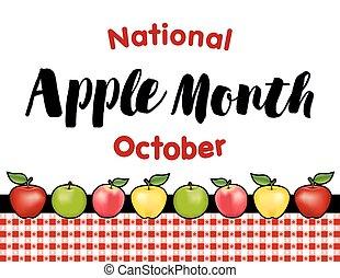tablecloth, miesiąc, duży parasol, czerwone jabłko