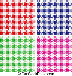 Tablecloth pattern  - Vector illustration of a fabric cloth