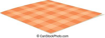 Tablecloth vector illustration. - Ffolded tablecloth...