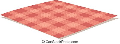 Tablecloth vector illustration. - Red folded tablecloth ...