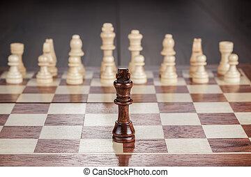 tablero de ajedrez, concepto, ajedrez, liderazgo