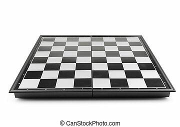 tablero de ajedrez, perspectiva, vista