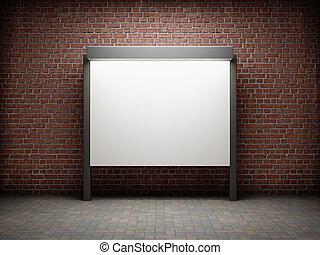 tablero de anuncios, blanco